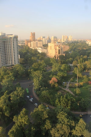 ...The New Delhi skyline ...