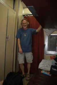 ... happy in my travels, our sleeper cabin ... a coconut t anyone who recognises the t-shirt ...