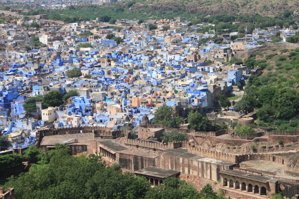 ... The Blue City from Mehrangarh Fort ...