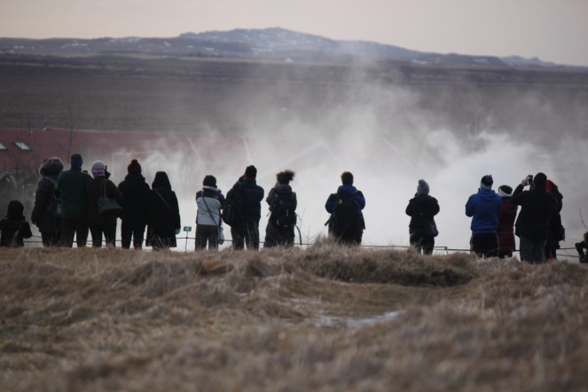 ... we're all waiting for Strokkur to blow ...