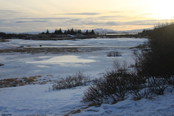 It's a cold but beautiful landscape ...