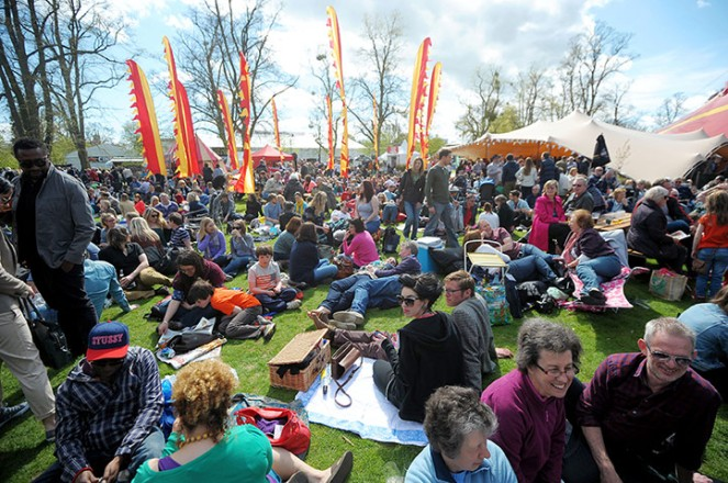 ... The Festival gets into full swing ...  Pic. The Guardian ...