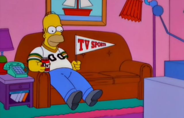homer+simpson+tv+sports+pennant