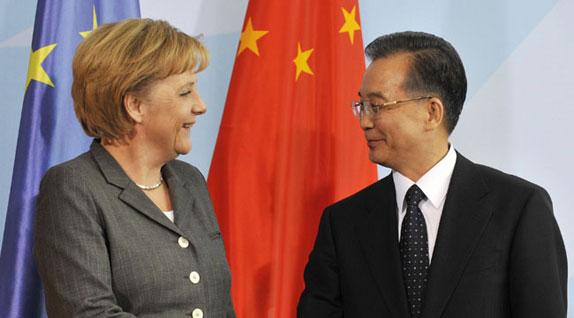 Merkel Wen Jiabao