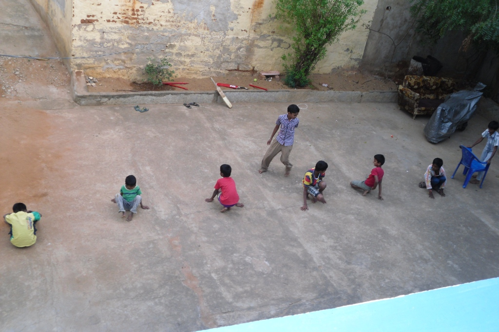 ... I don't know what this game is, but you can't have India children without cricket bats ...