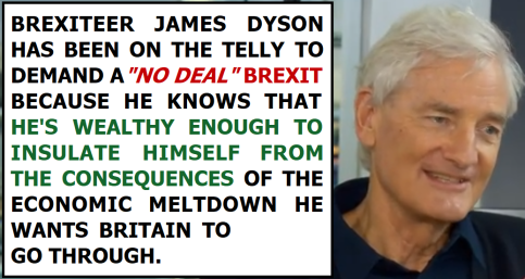 James Dyson No Deal Brexit
